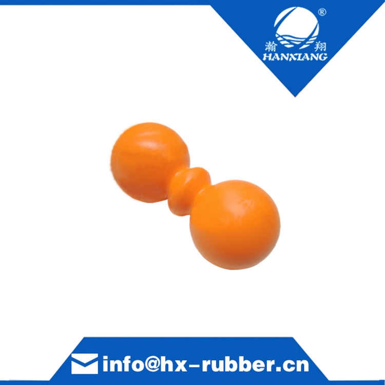 asian supply wrist rubber ball and peanut rubber solid ball Trigger Point peanut ball