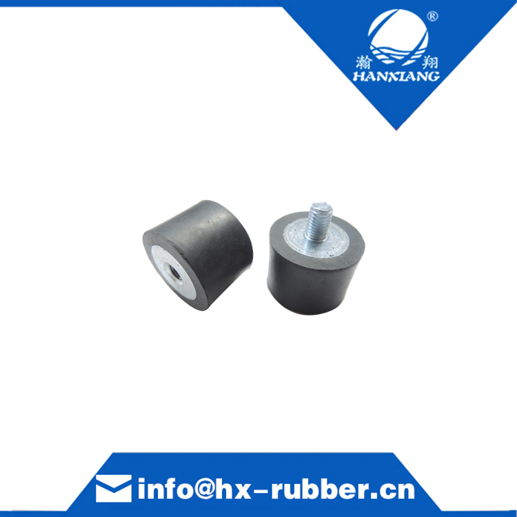 single screw cylindrical rubber damper