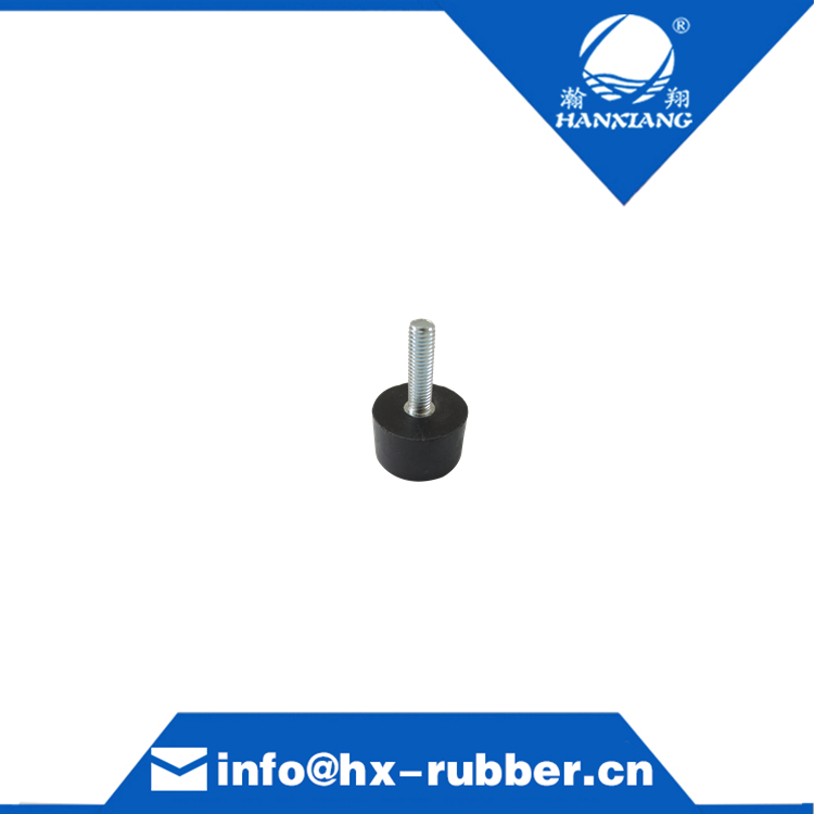 single screw cylindrical rubber damper for household