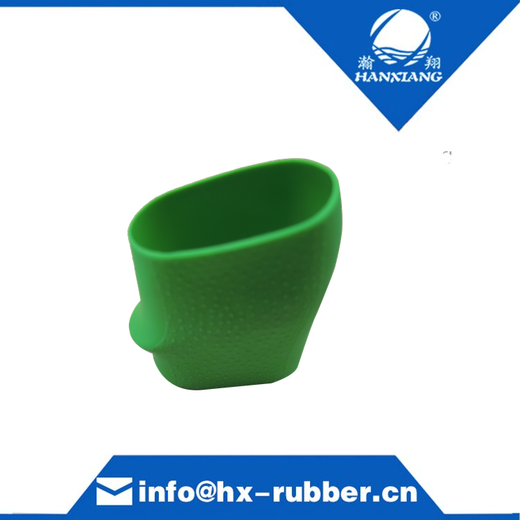 Finger Grooves green Rubber handle grips