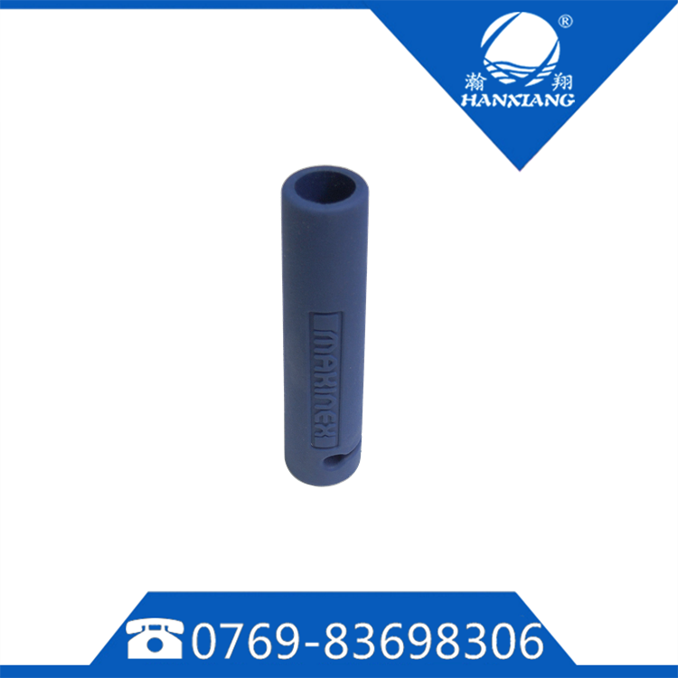 blue rubber anti-slip handle bike grips with texture