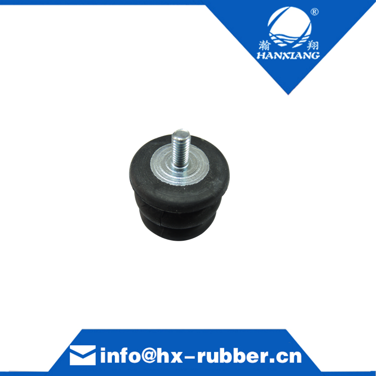 black rubber mount for machine