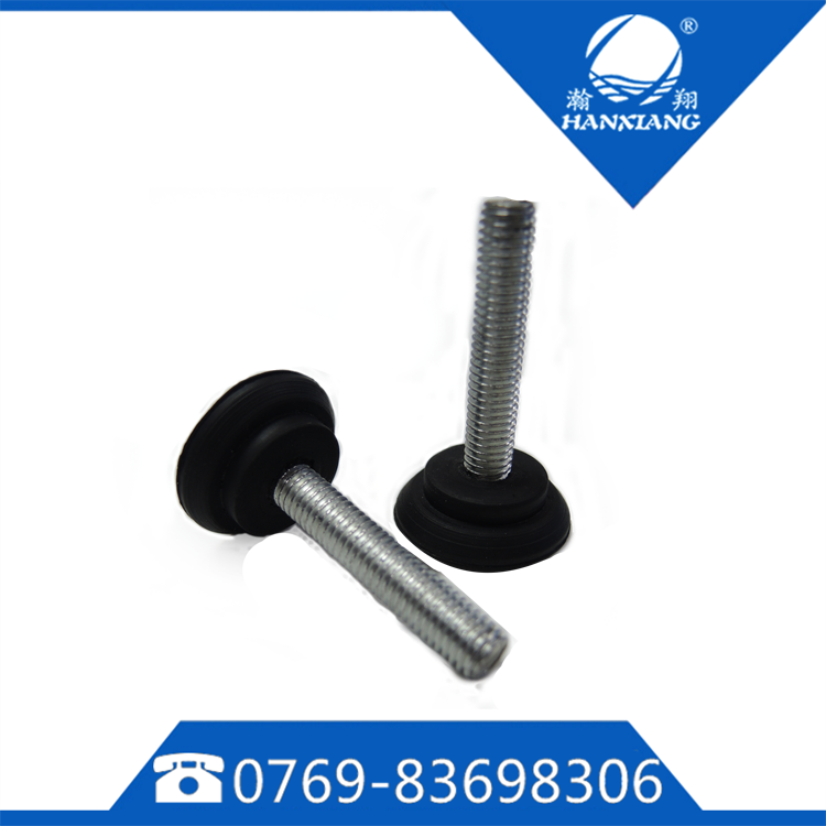 Equipment adjustable rubber feet with M8 threw